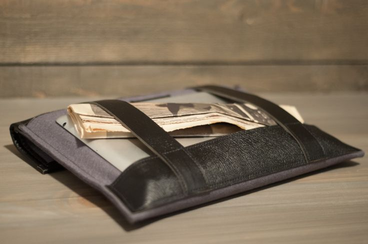 Mondain casu folio Wool felt and Leather goods. www.authentique.us