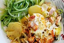 Cheesy ham and potato hash – Recipes – Slimming World