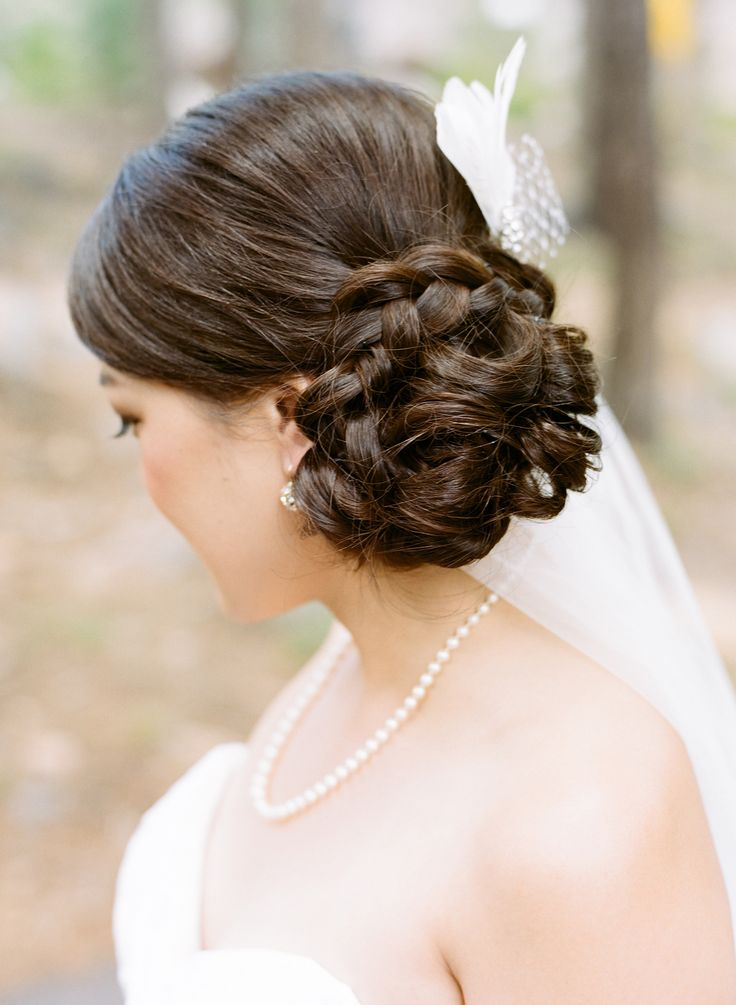 #Hairstyle | See the wedding on #SMP Weddings: http://www.stylemepretty.com/little-black-book-blog/2013/12/19/northstar-zephyr-lodge-wedding/ Photography: Em The Gem