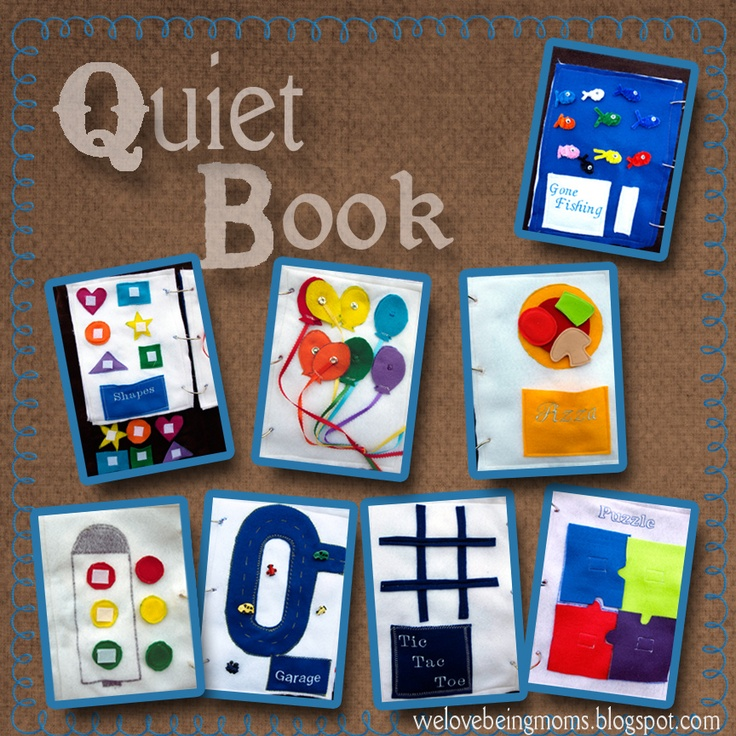 Quiet Book!!  welovebeingmoms.blogspot.com  #quiet book #kids