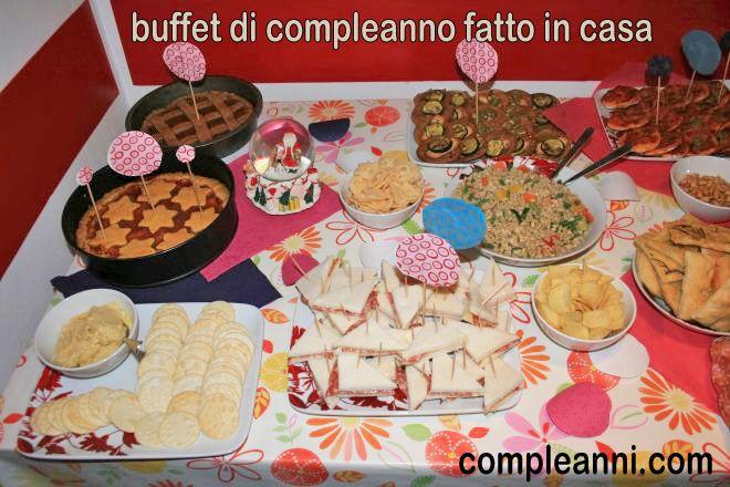 Buffet di compleanno fatto in casa