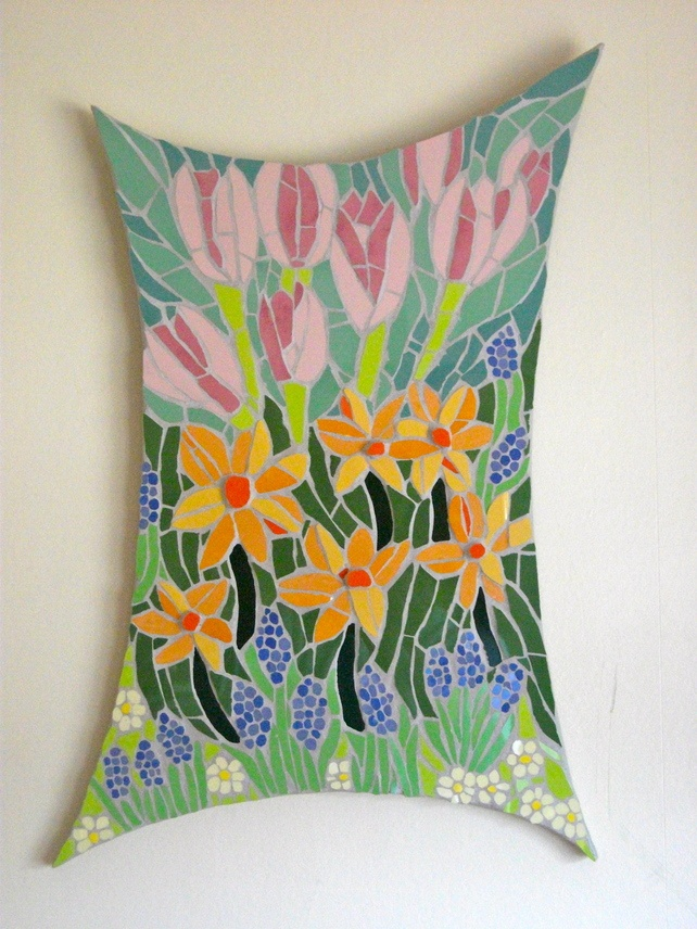 Mosaic blossoming spring flowers £275.00