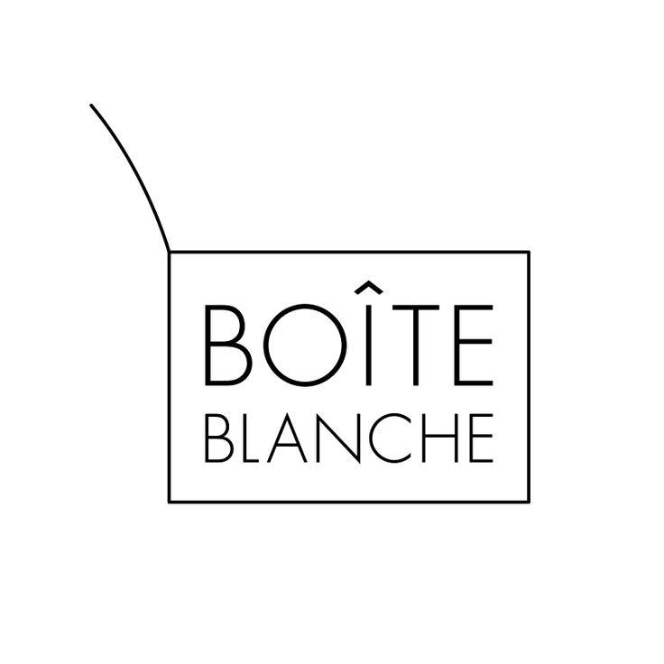 """フランス雑貨のセレクトショップ、BOÎTE BLANCHE(ボワ・ブランシュ)のロゴデザイン」  Logo design for the french select shop """"BOÎTE BLANCHE""""."""