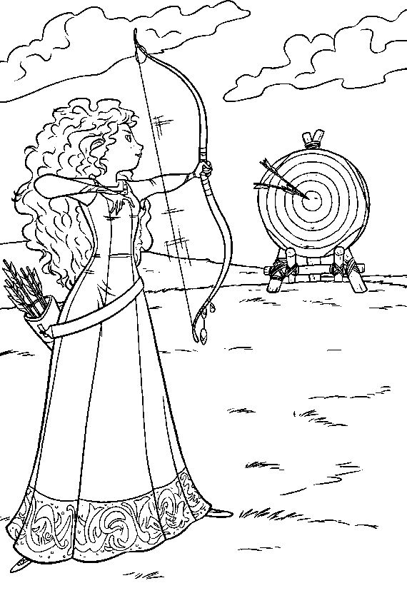 Pictures Merida A Great Archer Coloring Pages