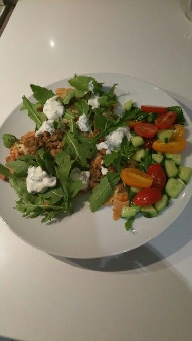 #IQS8WP Week 3 Day 2 - Pork & Fennel Pizza with Tomato & Cucumber Salad