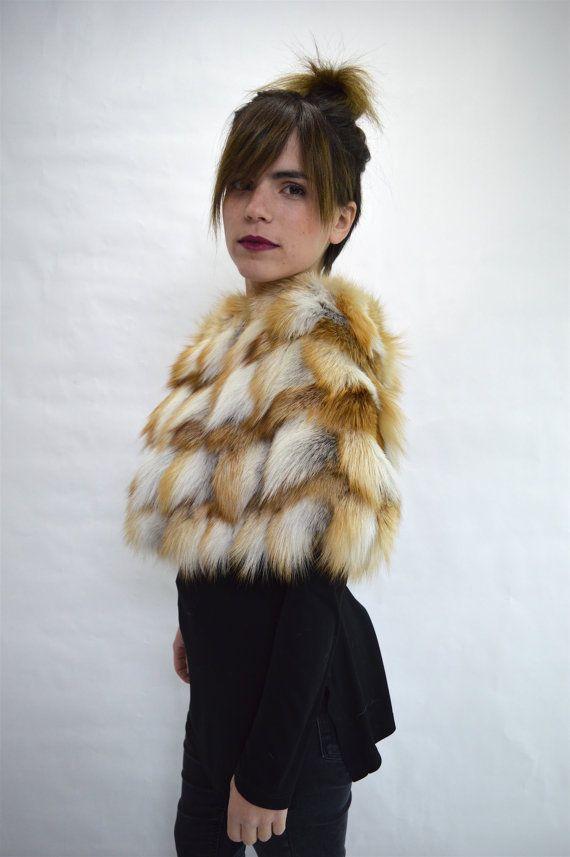 Real fur collar fox collar golden/red fox fur cowl fur by BeFur
