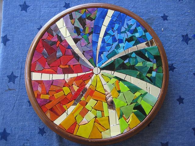 94 best mosaic lazy susan images on pinterest mosaics lazy susan and mosaic ideas - Smashing glass coasters ...
