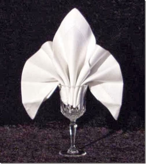 20 Plus Napkin Folding Styles - Setting for Four