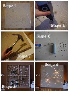 Light canva | tableau lumineux DIY (À faire si vous avez du courage  )