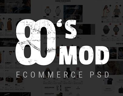 """Check out new work on my @Behance portfolio: """"80's MOD - eCommerce PSD Template"""" http://on.be.net/1NrQrlz"""