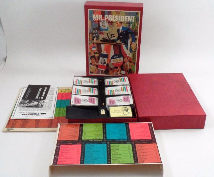 VGUC 1967 Mr President Realistic US Campaign Election Politics 3m Bookshelf Game #3M