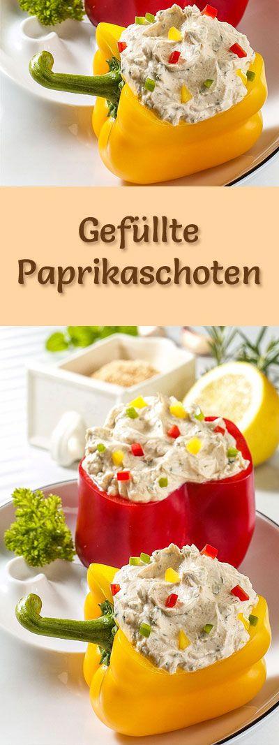 Rezept für gefüllte Paprikaschoten mit viel Eiweiß - und weitere leckere Magerquark-Rezepte zum Abnehmen ...