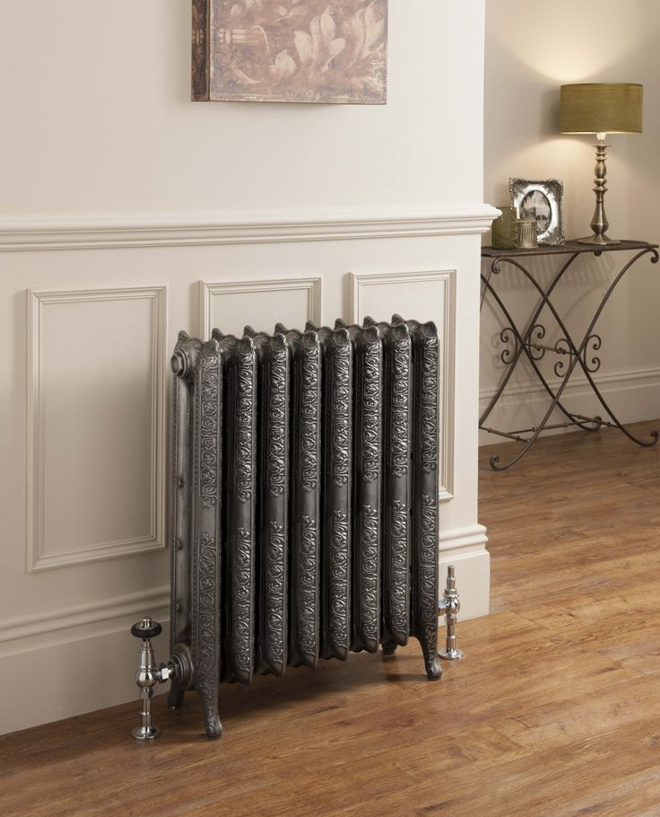 The epitome of traditional heating, cast iron radiators are a must for an period restoration; suitable for living rooms, bedrooms, kitchens, hallways and dinings rooms. The original detailed, ornate designs of the Mini Trieste 2 Column bring a touch of Georgian slendour to you home. Sold by section this classically ornate radiator features detailed engraved ears complete with footed end sections. Available from stock in White Primer. Complete with a 10 year guarantee. Prices from £123.98