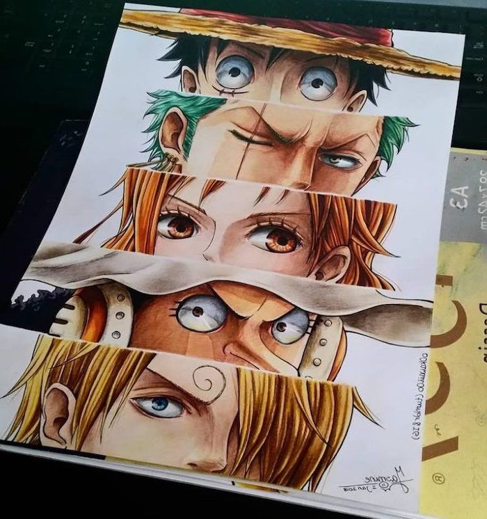 Different Anime Characters Anime Drawing Ideas Colourful Drawings In 2020 One Piece Drawing One Piece Manga One Piece Anime