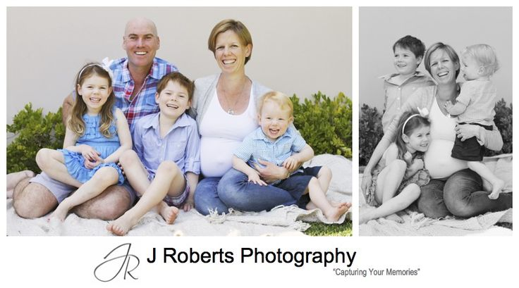 Family of 5 with a new baby on the way - pregnancy portrait photography sydney