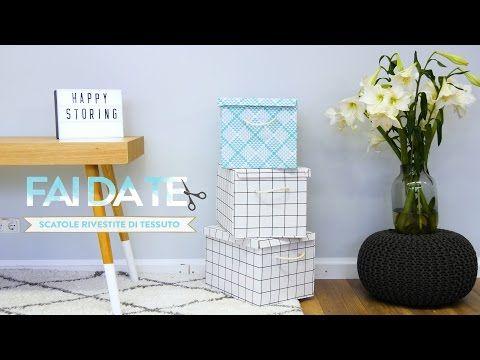 Scatole rivestite di tessuto: decorazioni fai da te | Dalani