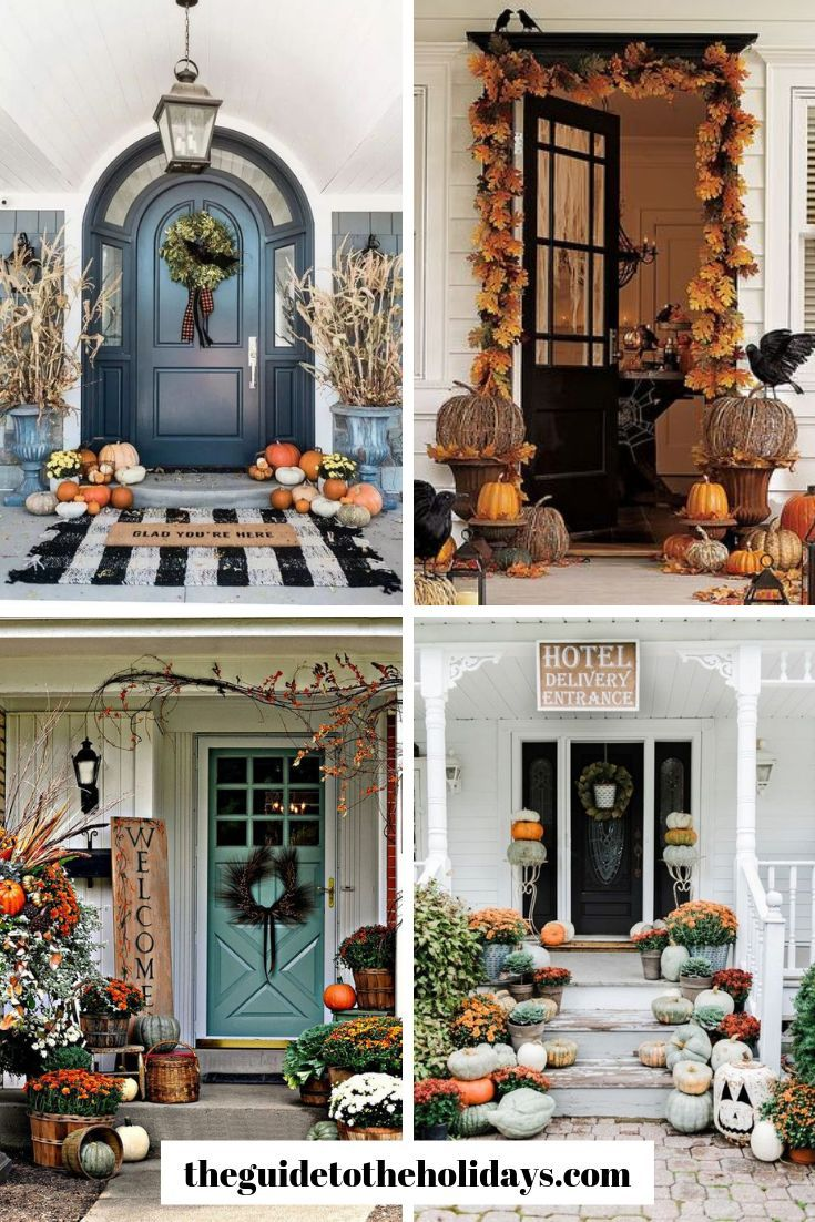 These Cute Fall Porch Ideas Are Guaranteed To Look Stunning From Memorable Doormats To Beautiful Staircase D Fall Decorations Porch Fall Porch Cozy Fall Decor