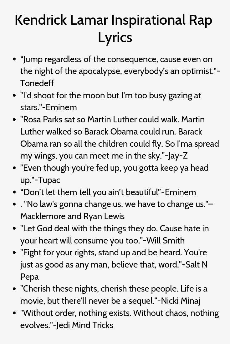 Kendrick Lamar Inspirational Rap Ubersetzung Und Songtext Lyrics Liedtexte Inspirational Rap Lyrics Rap Captions Rap Lyrics