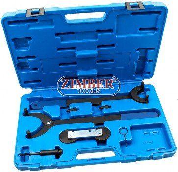 Engine Timing Locking Tool Set - VAG 1.8 TURBO & 1.6 FSI - ZT-04A2258 - SMANN TOOLS. Camshaft locking tool for: Audi: 1.6 FSI, Skoda: 1.6, VW: 1.4 FSI/TSI, 1.6 FSI/TSI petrol engines Timing chain tensioner tool for Audi: 1.8 Turbo, 1.8, 2.0, 3.7, 4.2, Seat: 1.8 Turbo, 1.4, 1.6 V16, 1.8 Cupra R, 1.4, 1.8, 2.3 petrol engines, 1.9, 2.0 TDI PD, 1.7, 1.9 SDI, Skoda: 1.8 Turbo, 1.8 Turbo V20 RS petrol engines, VW: 1.8 Turbo, 2.0 v20, 1.8 petrol engines Timing chain gear counter-holder for Audi…
