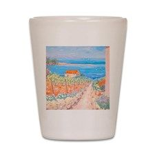 Mediterranean painting Shot Glass for