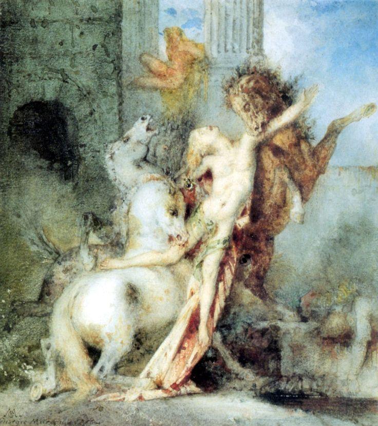 Gustave Moreau est un peintre français, professeur à l'école des Beaux-Arts, il a pour élèves Georges Rouault , Henri Matisse , Albert Marqu...