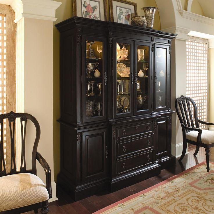 cool black china cabinet