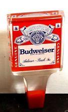 **BUD** Budweiser-Acrylic- Draft Beer Keg Tap Handle-Bar Pub Knob Tapper-Lot 320