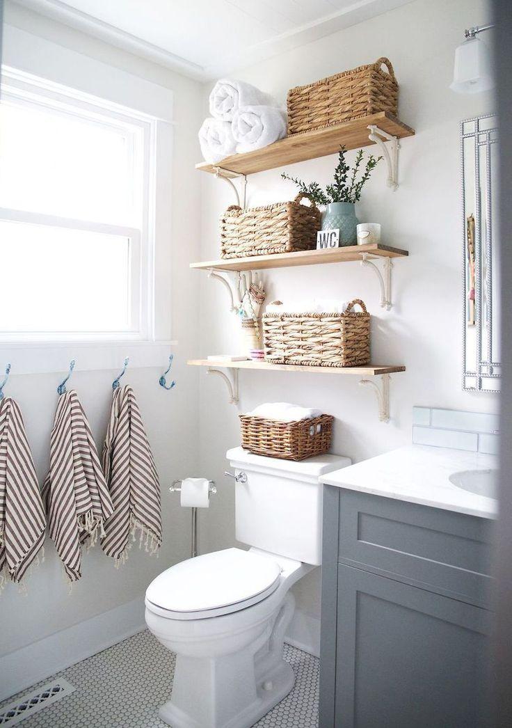 Cool 80 Rustic Farmhouse Bathroom Remodel Ideas https://homstuff.com/2018/02/01/80-rustic-farmhouse-bathroom-remodel-ideas/