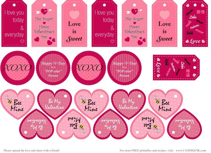 Free Valentine Printable Tags - Pink