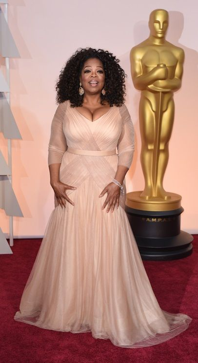 Oprah Winfrey - in Vera Wang
