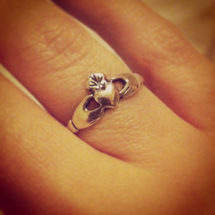 My Claddagh ring. It was a gift from my hubby while we were dating.