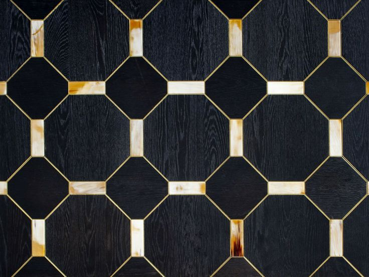 Arca Horn Italy 1560 Black Oak Wood Floor With Gilded