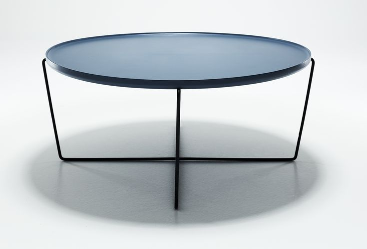 Cage lounge table blue top by WON