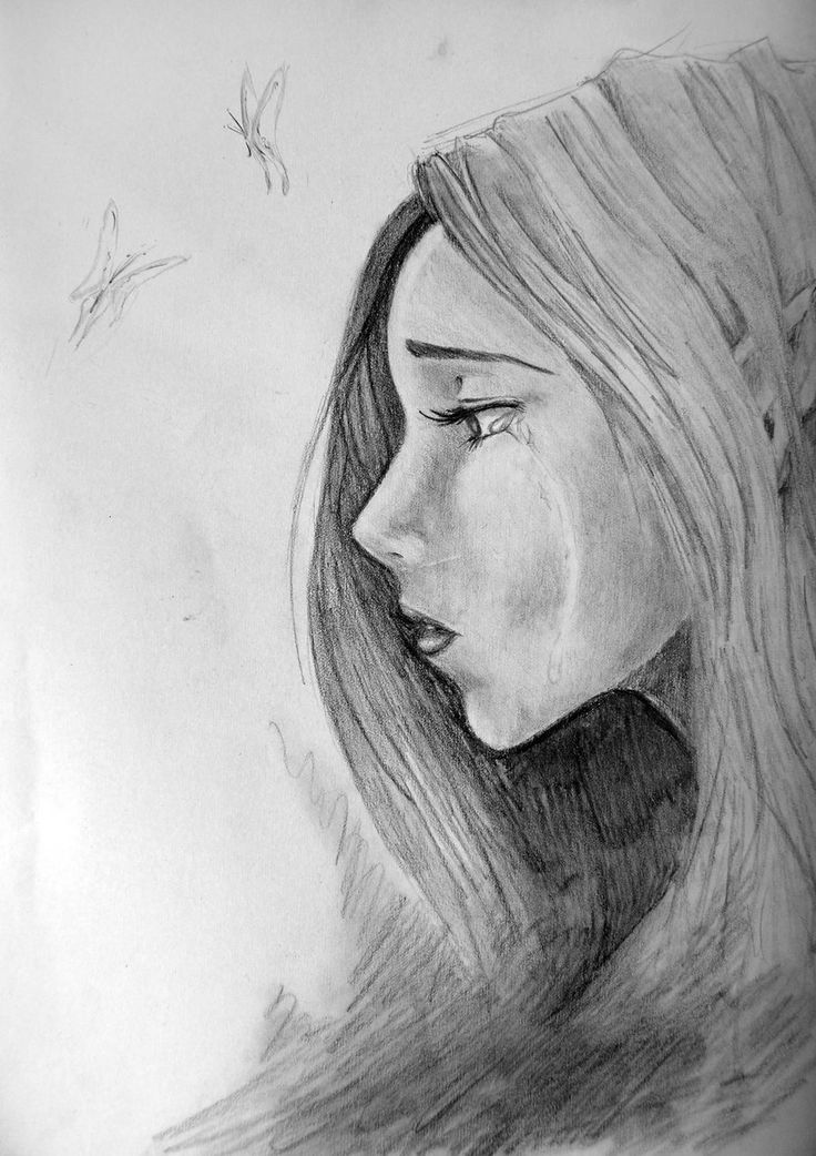 Sketches of Faces | Sad face 2 by ~AddictedToDrawing on ...