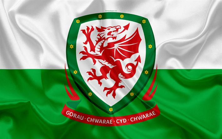 Download wallpapers Wales national football team, emblem, logo, football federation, flag, Europe, flag of Wales, football, World Cup
