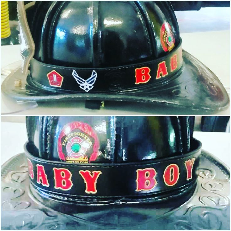 Fire helmet band on a New Yorker.