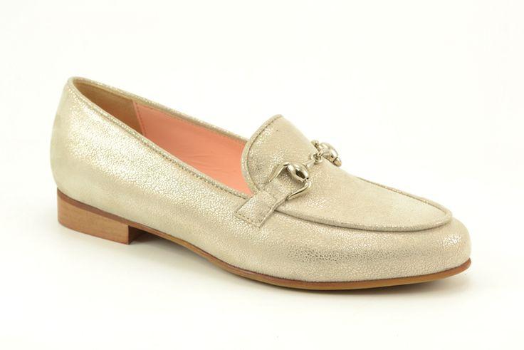 Metallic kleurige loafers met horsebit van het merk Roberto d'Angelo, model 1704. €139,95 #loafers #trend #horsebit #shoes #schoenen #robertodangelo