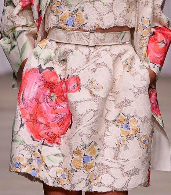 patternprints journal: PRINTS, PATTERNS AND SURFACE EFFECTS: BEAUTIFUL DETAILS FROM MILAN FASHION WEEK (WOMAN COLLECTIONS SPRING/SUMMER 2015) /Ermanno Scervino
