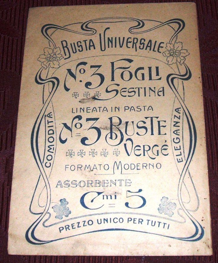 ANTICA BUSTA UNIVERSALE (PUBBLICITA' CARTA)SUL RETRO LETTERA MANOSCRITTA | eBay