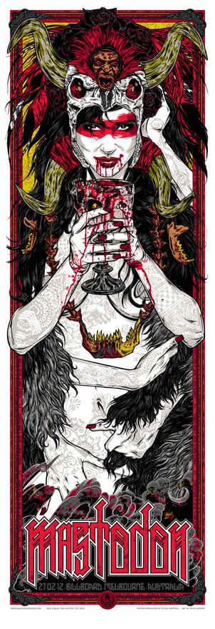Mastodon Gig Poster by Rhys Cooper