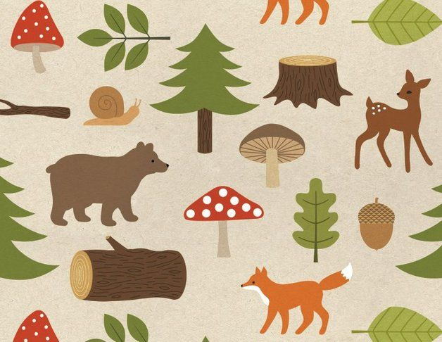 autumn in DaWanda Wrapping paper – forest wrapping paper – a unique product by enna on DaWanda