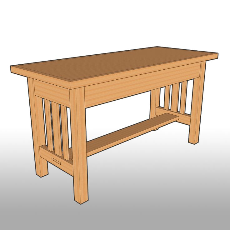Mission Style Dining Room: Woodworking Plans Indoor Bench