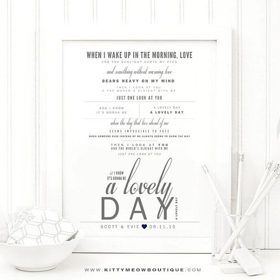68 best song lyric art prints images on pinterest lyric art gray navy bill withers lovely day lyric art print wedding gift stopboris Images