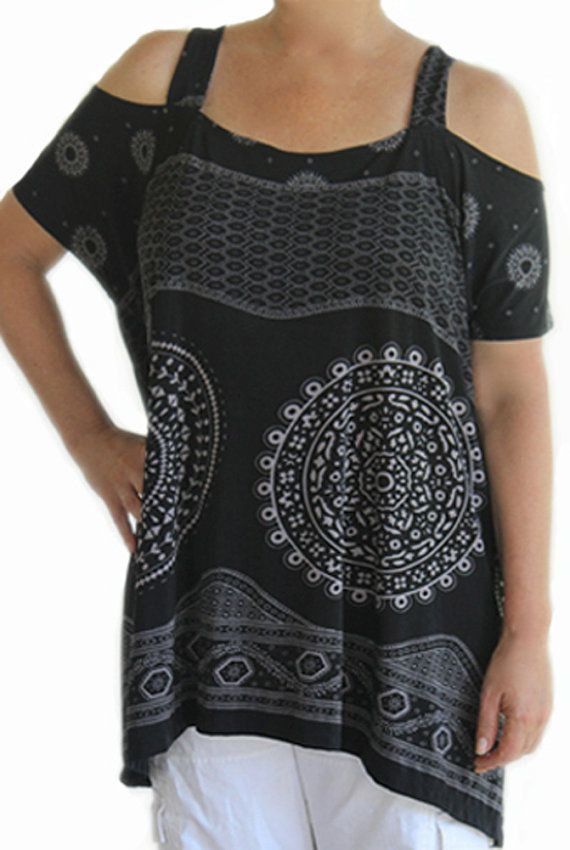 Plus+Size+Women's+Clothing+Tunic+Top+Lycra+One+by+GenerousFashions,+$43.99