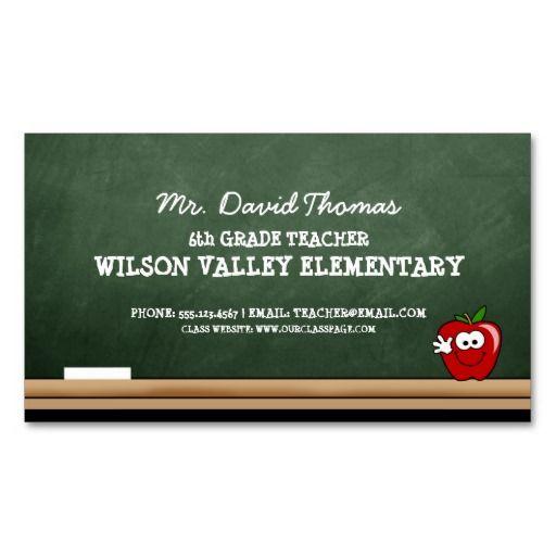 Teacher business cards funfndroid teacher business cards reheart Gallery
