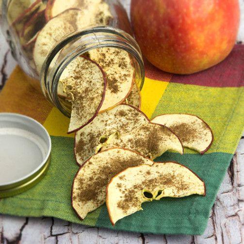 Vanilla Spice Dehydrated Apple Chips | Om Nom Ally