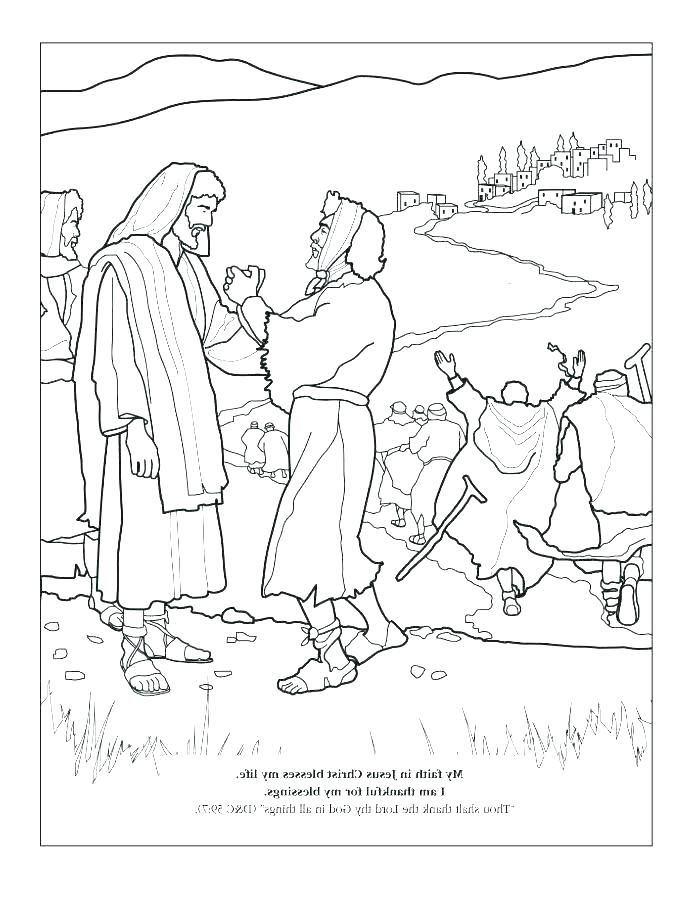 Jesus Heals Ten Lepers Coloring Page Jesus Heals Ten Lepers