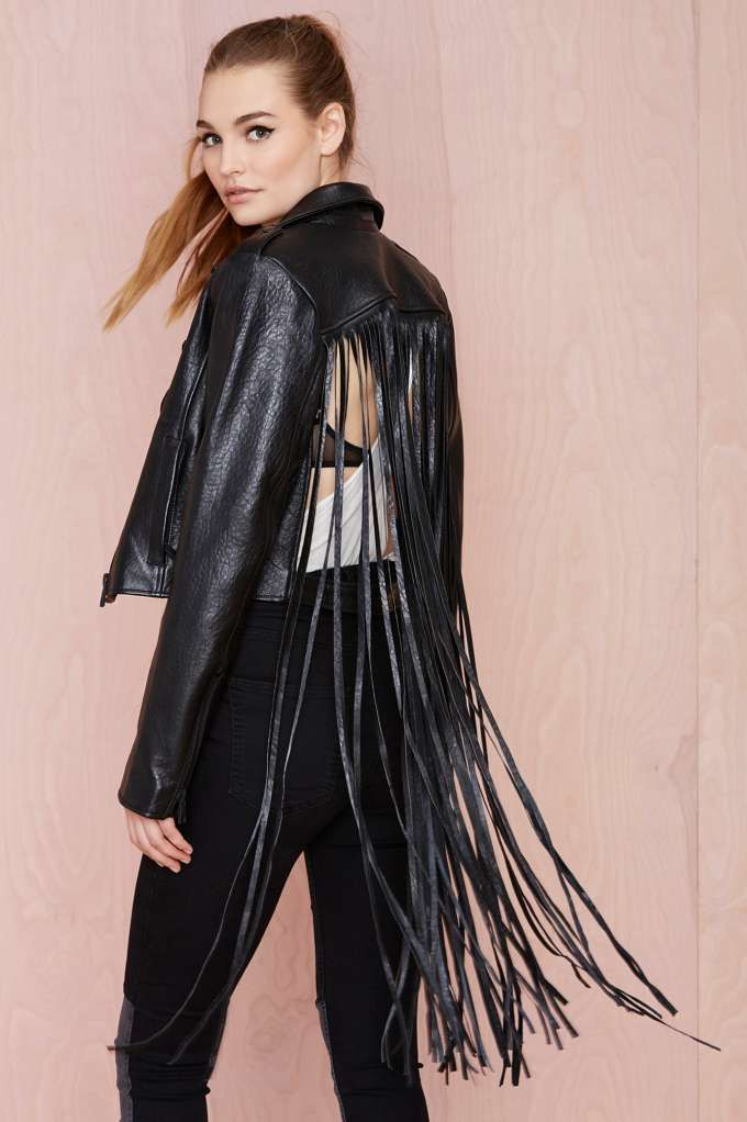 Nasty Gal Leather - The Misfit Fringe Jacket - Jackets   Moto   Jackets + Coats      Jackets + Coats