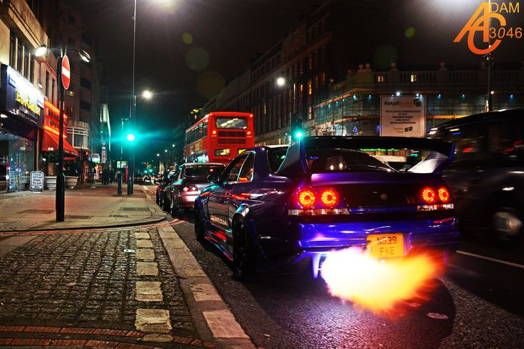 https://flic.kr/p/hToxEQ | Goodness gracious great balls of fire! | Nissan Skyline R33 GTR (by Kream Developments) in London  Video: www.youtube.com/watch?v=m2byYwlU2L8