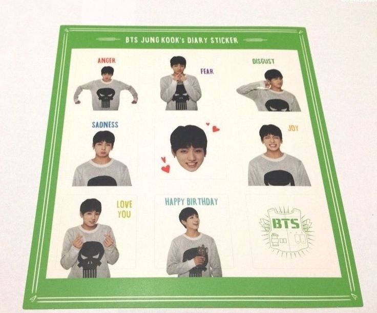Official Bangtan Boys Jungkook 1 Sticker of BTS 2016 Season's Greeting KPOP